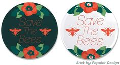 It's Endangered Species Day - Bees are dying at alarming rates. Doing something to stop it is vital to keeping our ecosystem running and keeping fresh produce in our homes. For more info watch this video http://ti.me/1nIUcZbIf you like these buttons you can get them here (and t-shirts too!):   Light design - http://www.cafepress.com/dd/99219015Dark design - http://www.cafepress.com/dd/99219022