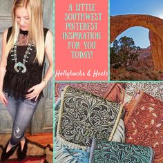 A little pretty southwest look for you today! www.hollyhocks&heels.com