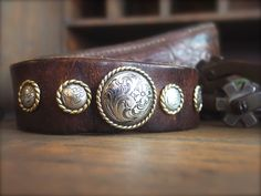 A personal favorite from my Etsy shop https://www.etsy.com/listing/292783471/leather-cuff-cowgirl-bracelet-cowboy
