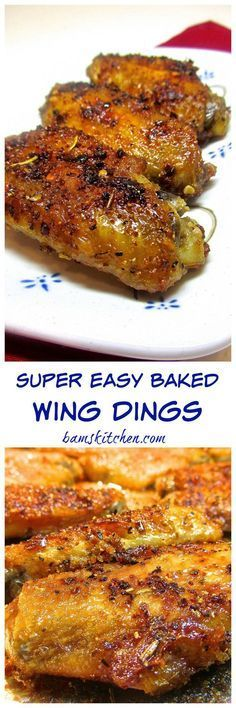 Super Easy Baked Wing Dings - Gluten-free/ low carb/ CRISPY/ Bam's Kitchen