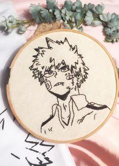 Diy Embroidery Patterns, Embroidery Hoop Art, Cross Stitch Embroidery, Anime Diys, Anime Crafts, Custom Anime, Fabric Art, Manga, Crochet