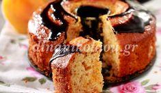 Κέικ με βερίκοκα και γλάσο σοκολάτας
