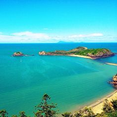 view from the top of Cape Hillsborough in Queensland Australia