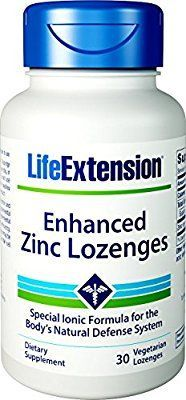 Amazon Com Life Extension Enhanced Zinc Lozenges 30 Vegetarian Lozenges Health Personal Care Life Extension Thyroid Supplements Supplements