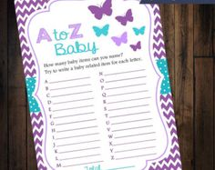 Butterfly Baby Shower Diaper Raffle Tickets  by ThreeJDesigns