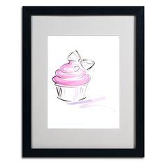 Cupcake 2 by Jennifer Lilya Matted Framed Painting Print
