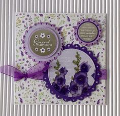 Card created using Ultra Violet Flora Collection, made by Julie Hickey www.craftworkcards.com Craftwork Cards, 3d Craft, Ultra Violet, Flora, Card Making, Vogue, Collections, Tea, Create