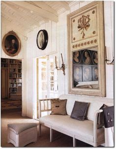 A lovely trumeau mirror in a lovely Lars Bolander residence. Swedish Interior Design, Swedish Interiors, Swedish Decor, Interior Design Inspiration, Scandinavian Style, Swedish Style, French Style, Nordic Style, French Country