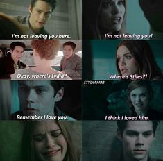 Stiles and Lydia Parallels. Teen Wolf Derek, Teen Wolf Stydia, Teen Wolf Dylan, Teen Wolf Cast, Dylan O'brien, Teen Wolf Quotes, Teen Wolf Funny, Teen Wolf Ships, Stiles And Lydia