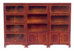 Town Square Miniatures Lawyers Bookcase - Collector Dollhouse Accessories at Hayneedle
