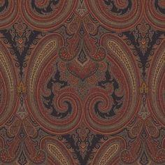 Galsworthy Paisley Ember by Ralph Lauren Paisley Wallpaper, Luxury Wallpaper, Custom Wallpaper, Textile Design, Fabric Design, Pattern Design, Paisley Fabric, Paisley Pattern, Wallpaper Fireplace