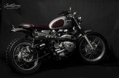 - South Garage Motor Co . - ROUGE - Triumph Scrambler