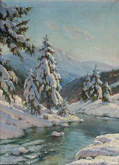 New Ideas For Nature Landscape Painting Snow Winter Landscape, Landscape Art, Landscape Paintings, Landscape Photography, Landscape Lighting, Landscape Timbers, Japan Landscape, Chinese Landscape, Impressionist Landscape