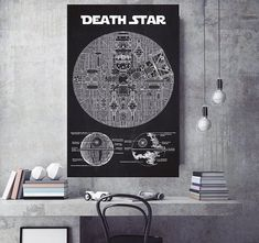 3548d5c408f93  Star Wars  Blueprint Posters Are Perfect For Your Home Office And They re  All Under  20 – BroBible