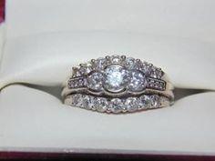 Beautiful Diamond Ring Set Beautiful Diamond Rings, Diamond Ring Settings, Wedding Sets, Diamonds, Gems, Bling, Engagement Rings, Weddings, Crystals