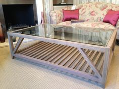 Large Glass Top Coffee Table Large Coffee Tables, Glass Top Coffee Table, Furniture, Home Decor, Decoration Home, Room Decor, Window Coffee Table, Home Furnishings, Home Interior Design