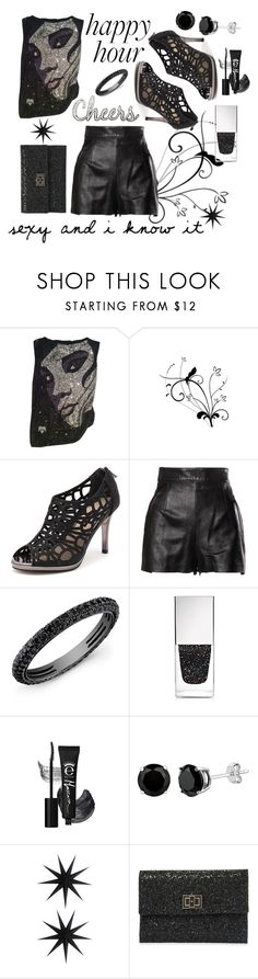 """""""Happy Hour Bliss"""" by numeangeleyes ❤ liked on Polyvore featuring Roberto Cavalli, Diana Ferrari, Moschino, Givenchy, House Doctor and Anya Hindmarch"""
