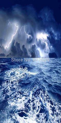 Бурное Море 10'x20 'ср Компьютерная роспись Scenic Фотография Фон Фотостудия Фон XLX-059