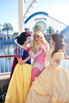 Snow from Snow White & the Seven Dwarves, Aurora from Sleeping Beauty and Belle from Beauty and the Beast