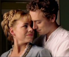 """Billie Piper and J.J. Feild in """"The Shadow of the North."""""""