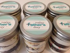 Cupcakes In A Jar-Mason Jars-Happy Father's Day-Gifts for Dad-Gifts for Grandpop- I Love Dad- #1 Dad- Father's Day