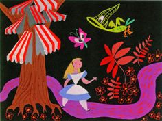 L'illustratrice Mary Blair a signé la plupart de mes dessins animés préférés chez Disney (Alice aux pays des merveilles, Cendrillon, Peter Pan)