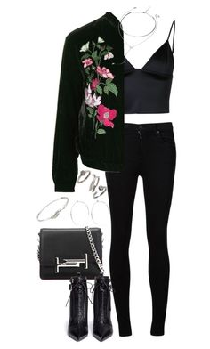 """Sem título #1186"" by manoella-f on Polyvore featuring moda, Citizens of Humanity, T By Alexander Wang, Topshop, Forever 21, Tod's, Sergio Rossi, Catbird, Collette Waudby e Kendra Scott"