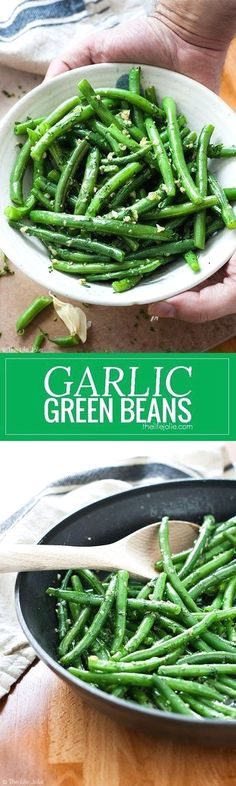 Garlic Green Beans is one of my favorite side dish recipes! It's easy to make and pretty healthy with Crispy Green Beans sauteed in a skillet. Fresh parley adds a great, herbaceous brightness with a little bit of butter and garlic.