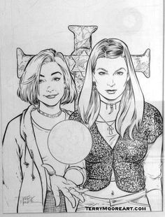 Buffy sketch card by mainasha buffyverse buffy summers for Buffy coloring pages