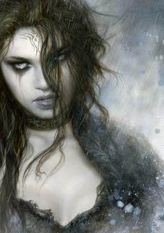 New art girl fantasy luis royo Ideas Dark Fantasy Art, Fantasy Women, Fantasy Girl, Fantasy Artwork, Dark Art, Art Village, Gouts Et Couleurs, Arte Obscura, Vampire Art