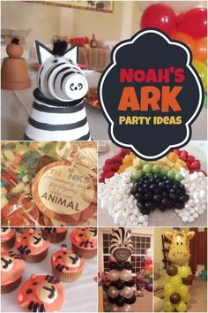 Fun ideas for  Noah's Ark Baby Shower or Birthday Party