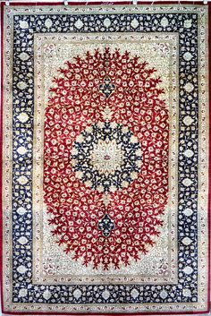 Retail Price: $18,500.00 You Save: 74% ($13,600.00) Item#: 1216 Category: Small(3x5-5x8) Persian Rugs Design: Medallion Size: 198 x 128 (cm) 6' 5 x 4' 2 (ft) Origin: Iran Foundation: Silk Material: Silk Weave: 100% Hand Woven Age: Brand New KPSI: 800 You Pay : $4,900