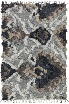 """Justina Blakeney Fable Collection FD-03 GRANITE Hand Woven Viscose from Bamboo 