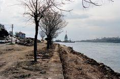 1980'li yıllarda Salacak-Harem sahil yolu yapımı başlangıcı.Mehmet N. Taşdelen Arşivi