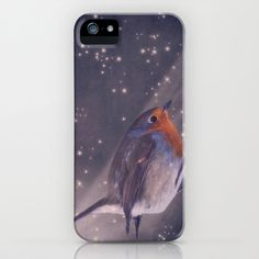 The little robin at the night iPhone Case by AD DESIGN Photo + PhotoArt - $35.00