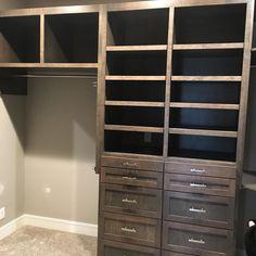 Continue custom walking closet#lnk #customwoodworking #classicwood #hardwood #kitchencabinets #classicwood via ClassicWoodLincoln.com