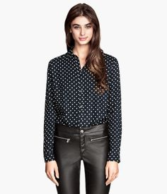 Long-sleeved Blouse | H&M US... Hey look!  It's one of the Twelfth Doctor's shirts!