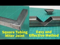 How to make square tubing miter joint - Welding Steel tube corner joint - YouTube Welding Crafts, Welding Tips, Welding Art, Welding Projects, Welding Ideas, Metal Fabrication Tools, Welded Metal Projects, Tube Acier, Metal Bending