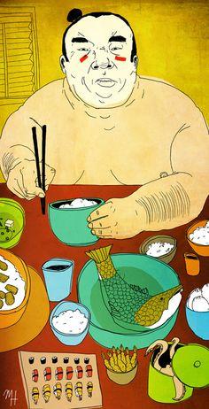 A Sumo's Feast - Michael Hirshon