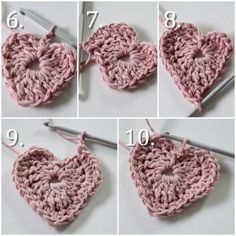Christmas Crafts, Christmas Decorations, Knitted Heart, Crochet Ornaments, Christmas Knitting, Knit Crochet, Diy And Crafts, Crochet Earrings, Valentines