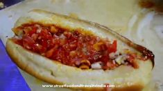 Great Cheese Cutlet Hot Dog Indian Street Food Cooking in a Food Stall., ,