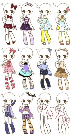 More fashion adopts :CLOSED: by LukasB-adopts.deviantart.com on @DeviantArt