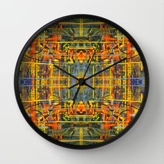 Abstract Landscape Wall Clock by Tika Calderon - $30.00