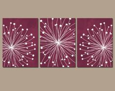 Red Gray Black Bedroom Wall Decor, Watercolor DANDELION Wall Art Canvas or Prints Gray Red Black Bathroom Decor, Dandelion Decor Set of 3 – Bedroom Ideas – Bedroom Decoration White Canvas Art, Black And White Canvas, Diy Canvas, Canvas Artwork, Black White, Canvas Paintings, Black Bathroom Decor, Bathroom Artwork, Bathroom Red