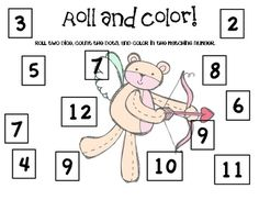 Here are four different boards for playing roll and cover (though this one is called roll and color). I like to laminate and reuse, but you can print these for students to color.