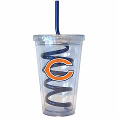 16oz NFL Chicago Bears Swirl Straw Tumbler