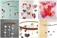 Mobiles de Coração para a decoração | FONTE: Casando Sem Grana
