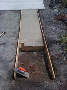1000 images about concrete driveway options on pinterest for Pouring concrete driveway