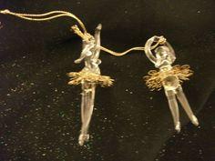 ** 2 Spun glass Ballerinas with Gold Filigree Ornaments ( Gold Filigree, Glass Christmas Ornaments, Ballerinas, Ballet Flats, Ballerina Pumps, Ballerina, Ballet Dancers, Dancing Girls, Flats