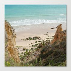 Lagos, Ocean, Atlantique, dream Stretched Canvas by Sébastien BOUVIER - $85.00 Decoration, Framed Art Prints, Beach, Water, Stretched Canvas, Outdoor, Lakes, Decor, Gripe Water